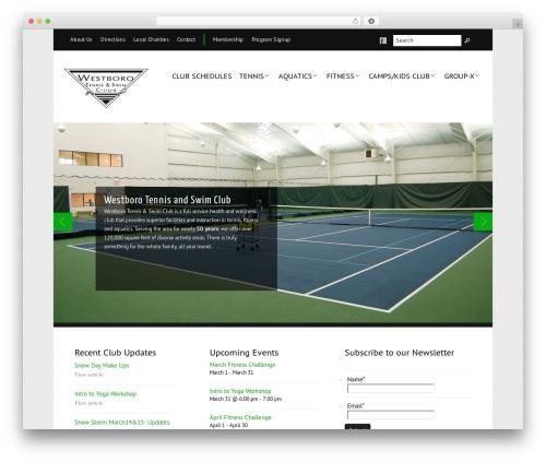 Balance WordPress page template - westboroclub.com