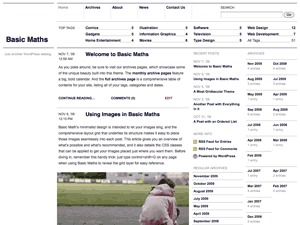 Basic Maths WordPress template