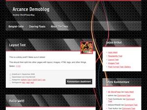 Best WordPress template BlackMesa