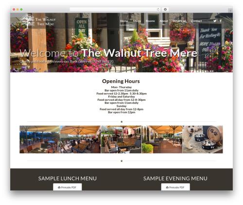 Free WordPress GDPR Cookie Consent plugin - walnut-tree-inn.co.uk