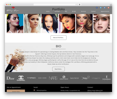 Best WordPress template U-Design - whitneyharpermakeupartist.com
