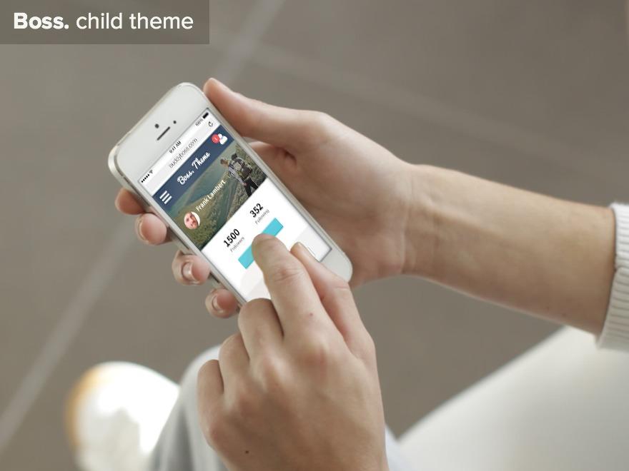 Best WordPress theme Boss. Child Theme