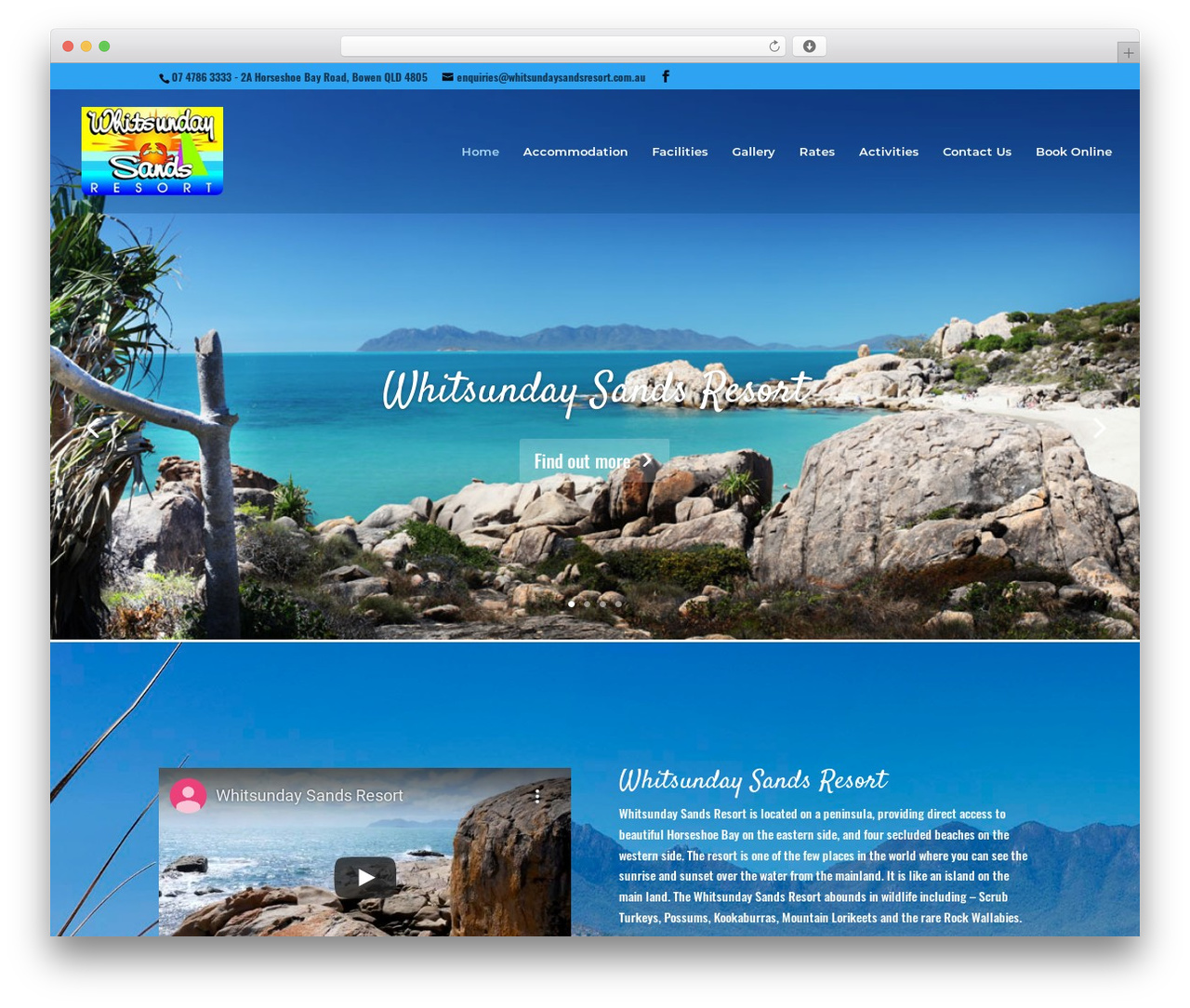 Best WordPress theme Divi - whitsundaysandsresort.com