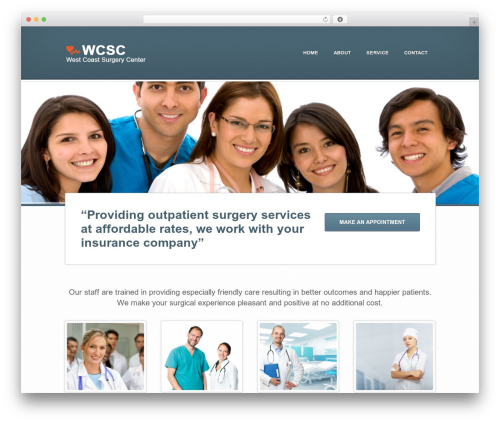 Best WordPress theme Medicate - westcoast-surgery-center.com