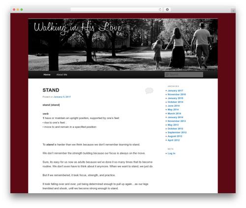 Best WordPress theme Twenty Eleven - walkinginhislove.com