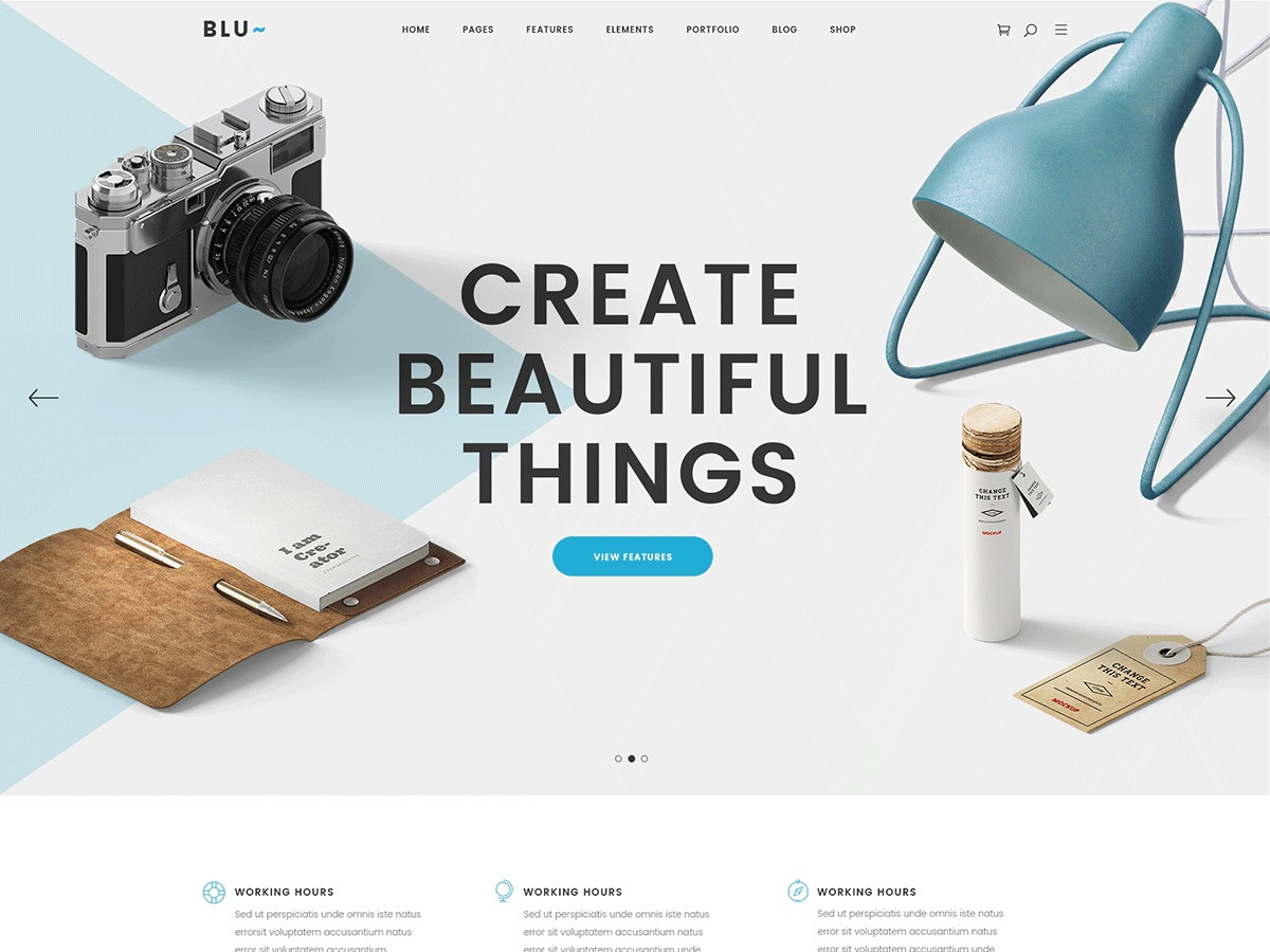 Blu WordPress template for business