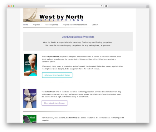Builder WordPress template - westbynorth.com