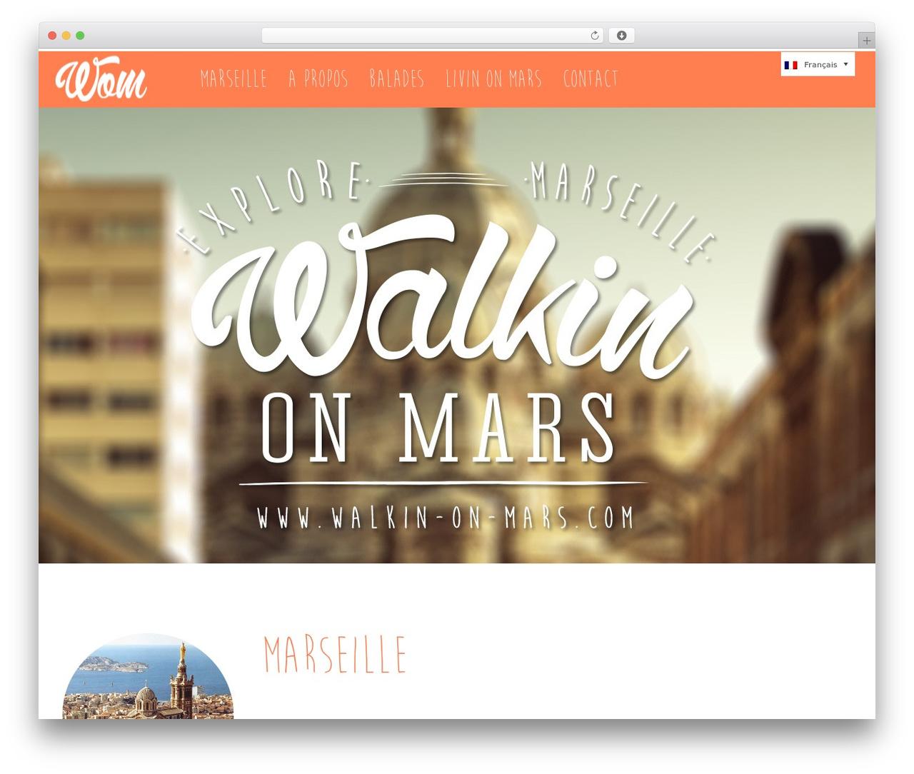 CASA WordPress theme - walkin-on-mars.fr