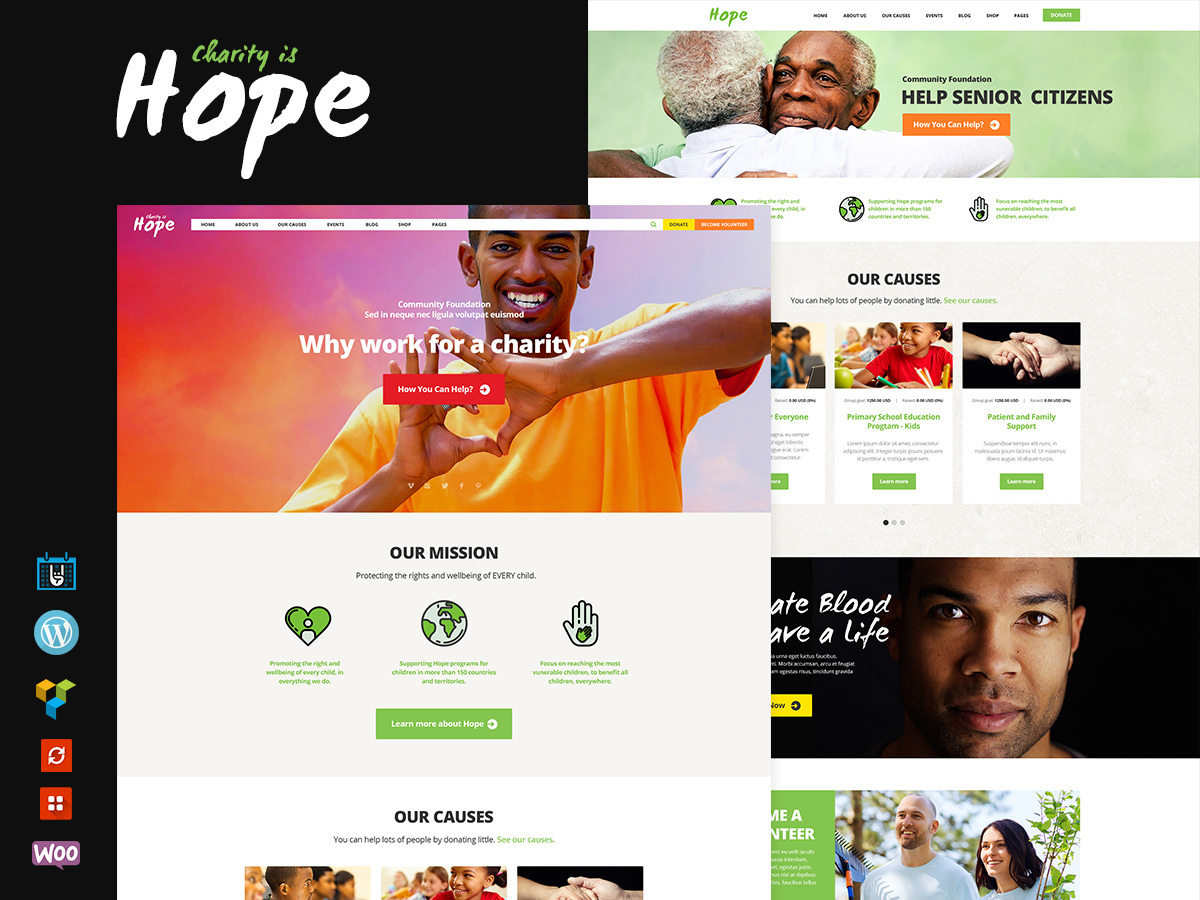 Charity Is Hope Child WordPress template