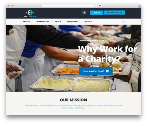 Charity Is Hope WordPress theme design - wellofhopeflint.org