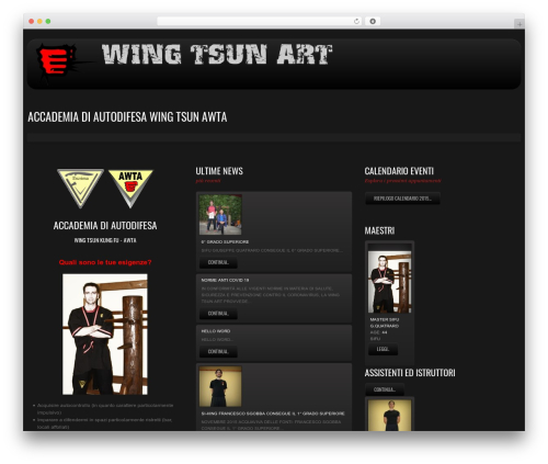 cherry premium WordPress theme - wingtsunart.it