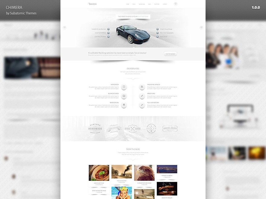 Chimera WordPress page template