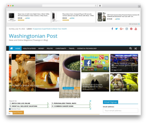 ColorMag template WordPress free - washingtonianpost.com