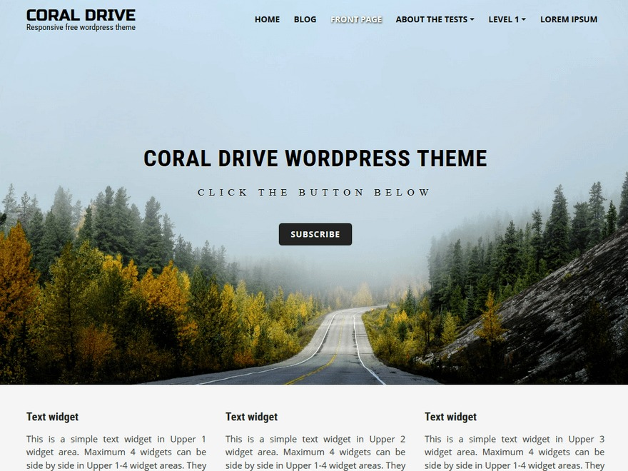 Coral Drive WordPress theme free download