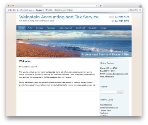 Customized WordPress theme - weinsteinaccounting.com