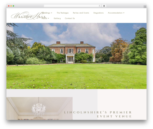 Divi landscaping WordPress theme - walcothallestate.co.uk