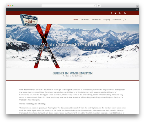 Divi top WordPress theme - washingtonskiauthority.com