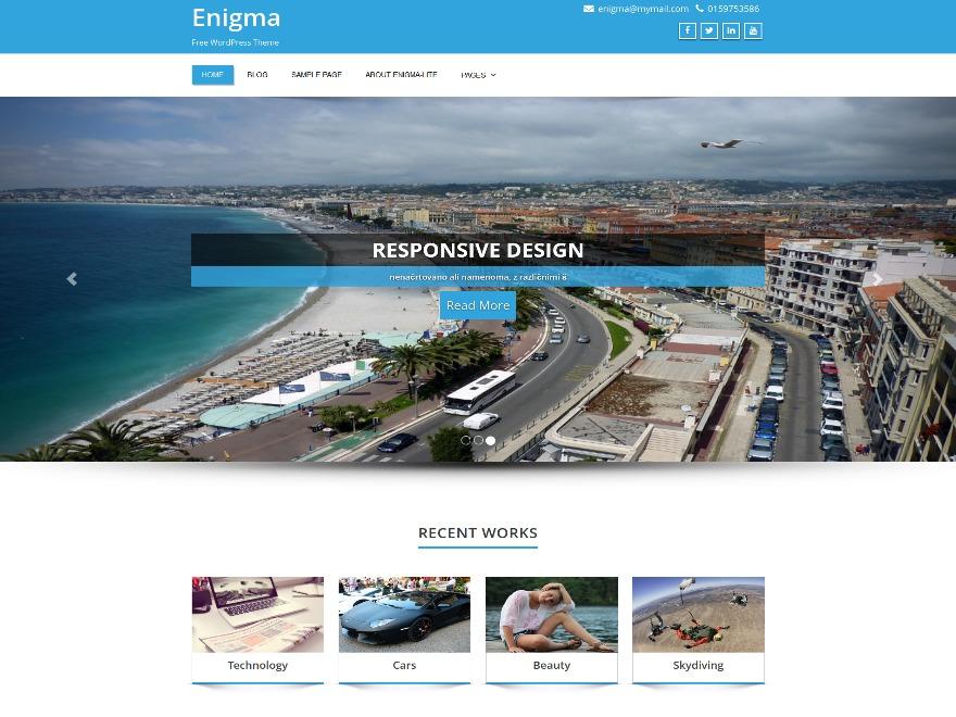 Enigma Child WordPress theme