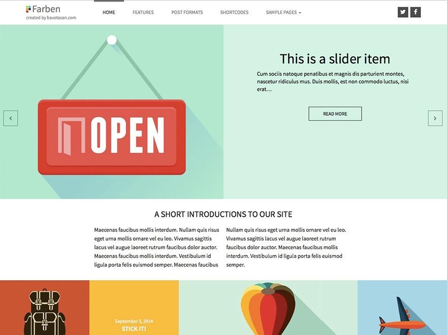 Farben WordPress gallery theme