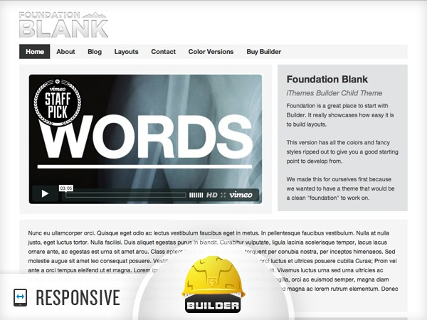 Foundation - Blank template WordPress