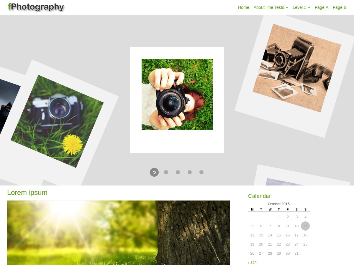 fPhotography free WP theme
