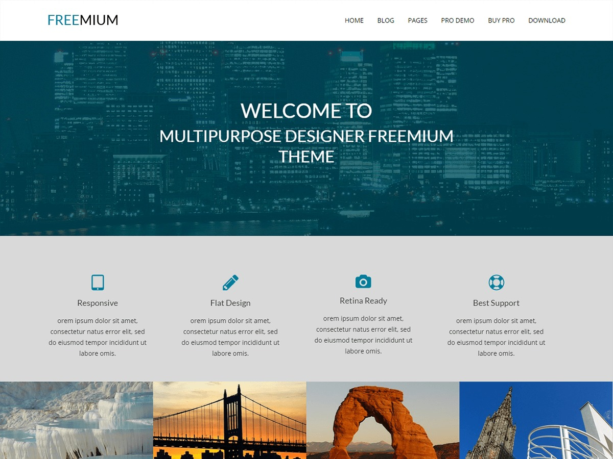 FREEmium WordPress template free