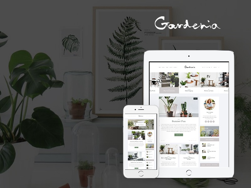 GardeniaBlog landscaping WordPress theme