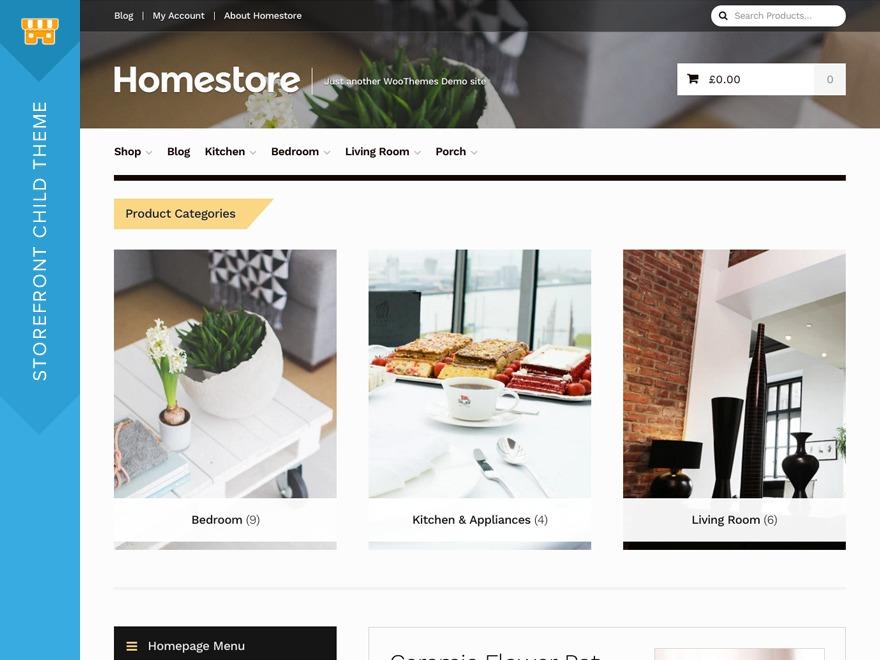 Homestore WordPress ecommerce theme