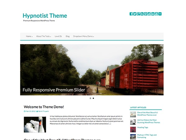 Hypnotist WordPress blog template