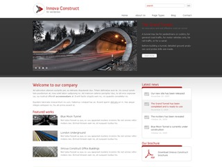 Innova Construct WordPress template for business