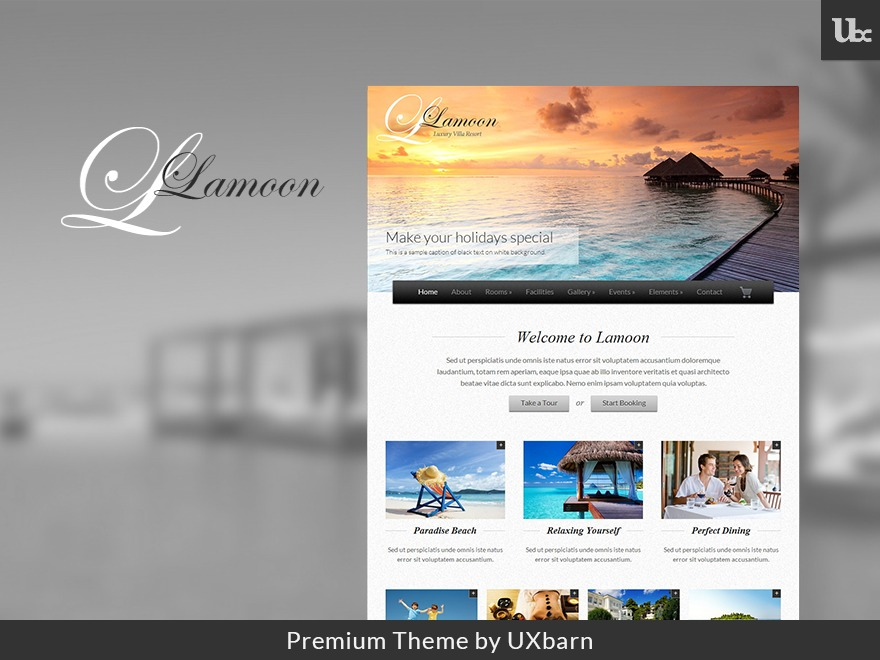 Lamoon WordPress hotel theme