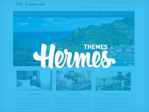Leonardo WordPress hotel theme