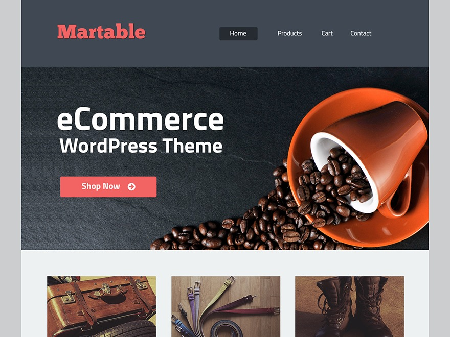 martable WordPress shopping theme