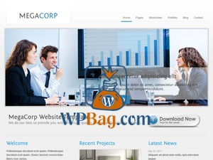 Megacorp business WordPress theme