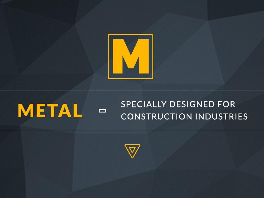 Metal company WordPress theme