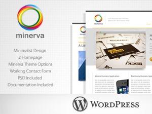 Minerva WordPress template for business