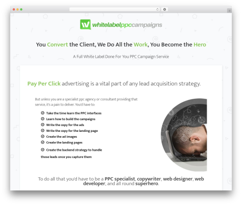 Minus WordPress theme - whitelabelppccampaigns.com