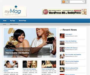 myMag best WordPress magazine theme