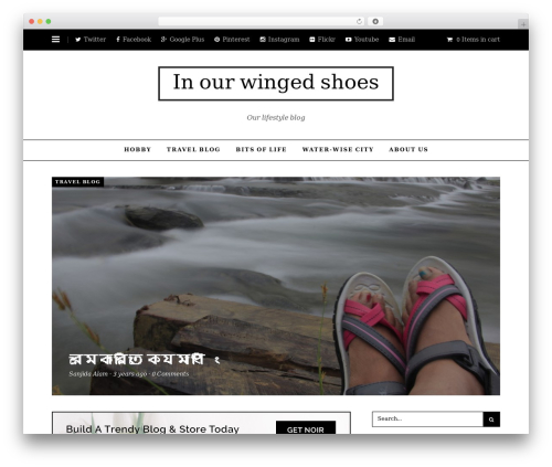 Noir WordPress blog theme - wingsnshoes.com