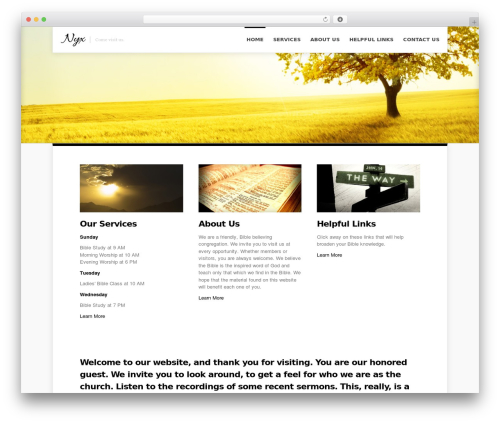 Nyx theme WordPress - wesconnettchurchofchrist.org