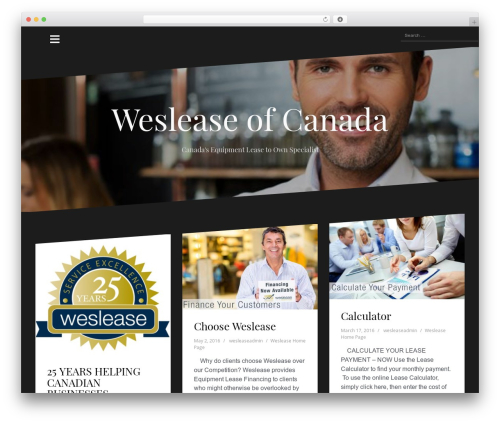 Oblique WP theme - weslease.com