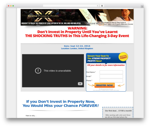 OptimizePress best WordPress theme - wealthdragonsbootcamp.co.uk