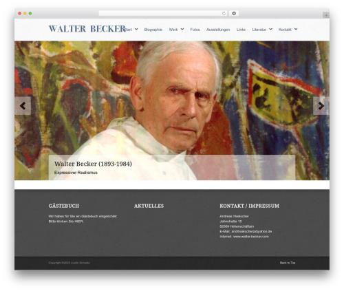 Peacemaker WP template - walter-becker.com