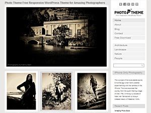 Photo Theme Responsive WordPress template for photographers