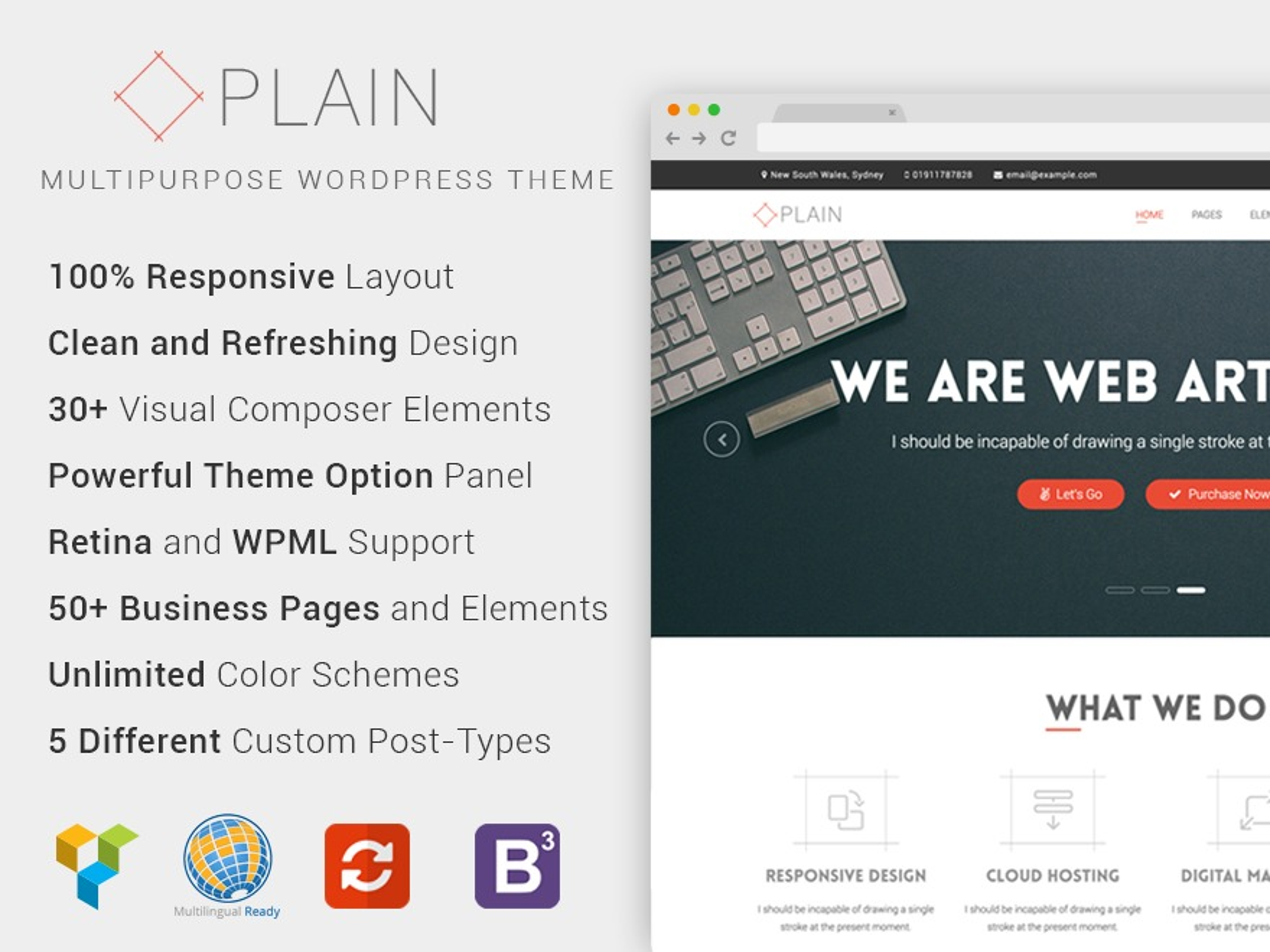 Plain WordPress website template