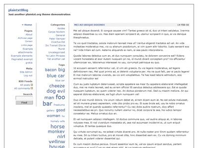 plaintxtBlog WordPress blog theme