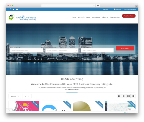 Pointfinder WordPress template for business - web2business.co.uk