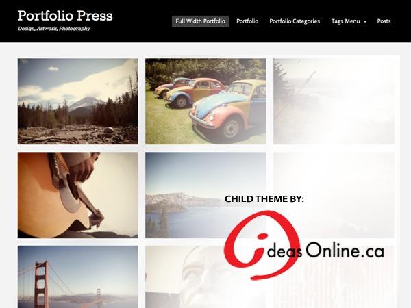 Portfolio Press WordPress blog theme