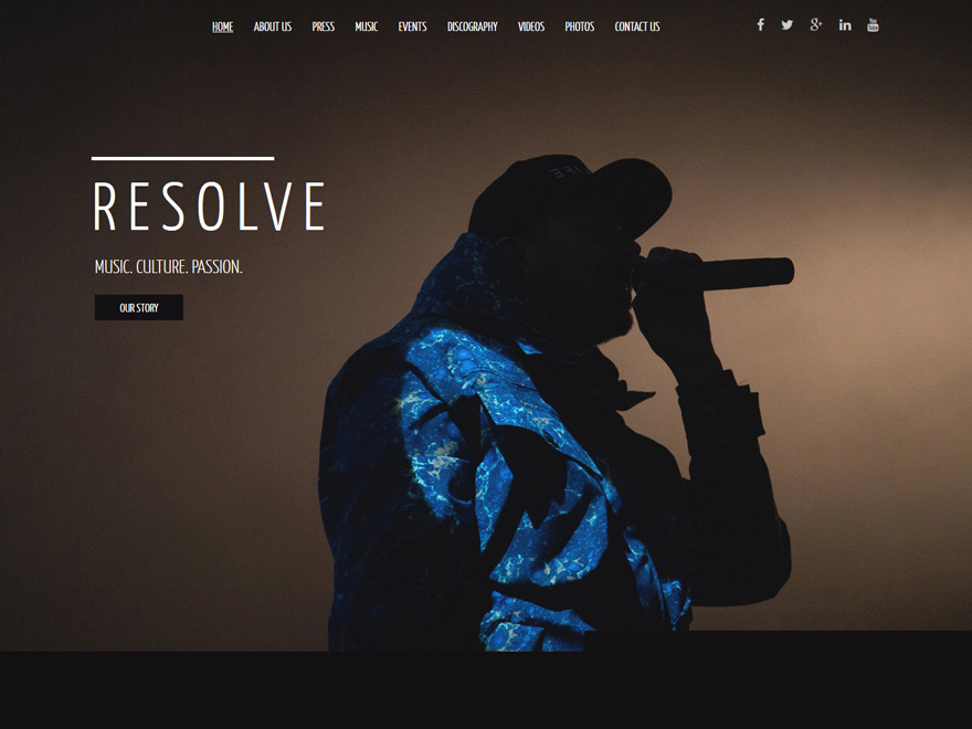 Resolve WordPress theme