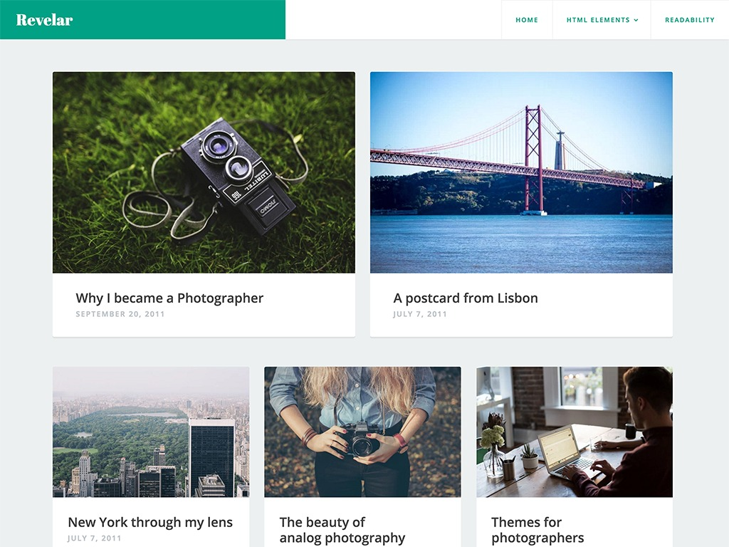 Revelar free WordPress theme